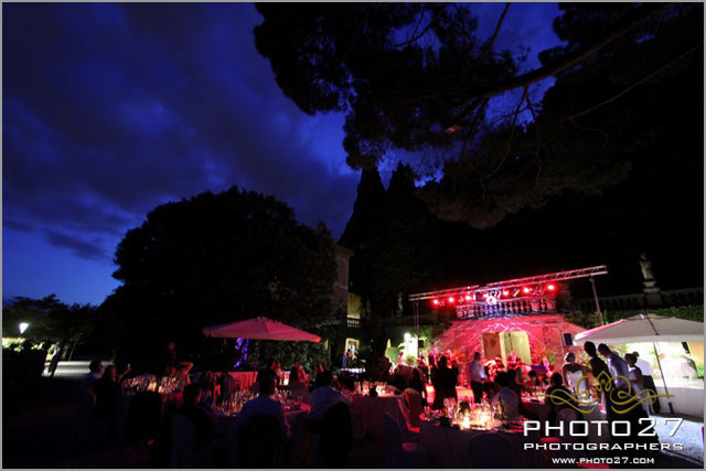 wedding party in Cernobbio