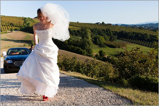 wedding in the land of Barbaresco wine Piemonte