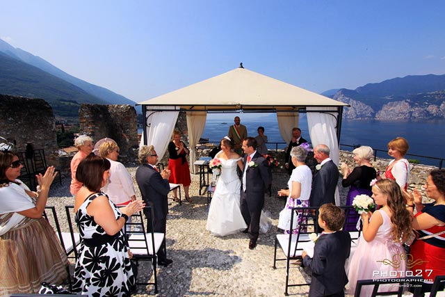 wedding in Malcesine Castle Lake Garda