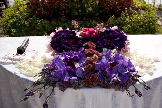 butterflies themed wedding on lake Como Italy