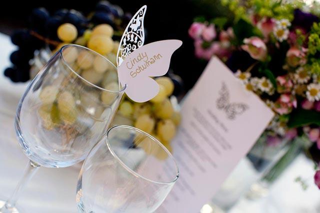 butterflies themed wedding on lake Como