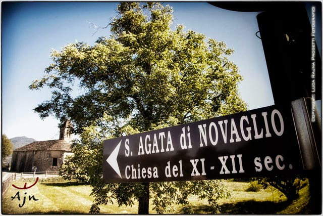 wedding to chapel Saint Agata in Novaglio lake Maggiore