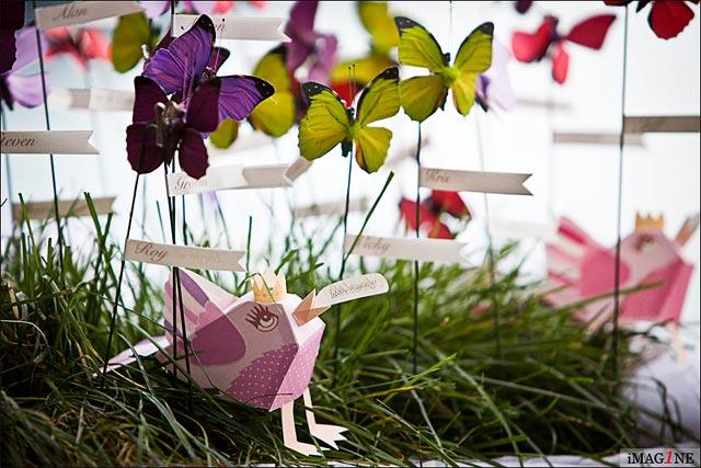 lake Orta butterflies theme wedding