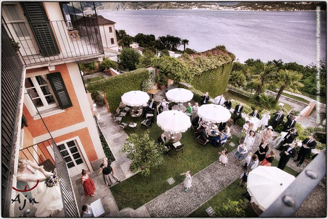 outdoor Italian aperitivo at Villa Margherita