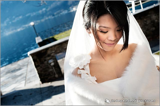 winter wedding dress in Italy