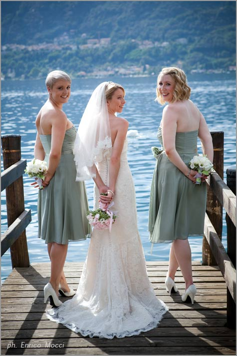 Stràusse der Brautjungfern Ortasee hochzeit Italien