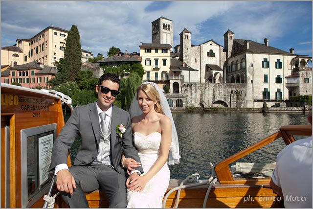 motorboat wedding services on lake Orta