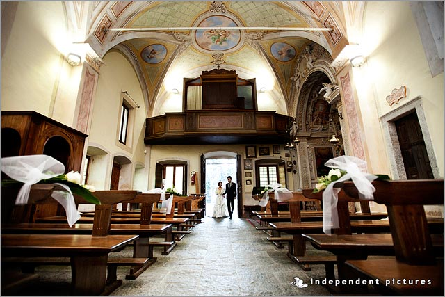 wedding ceremony to Sacro Monte church Lake Maggiore