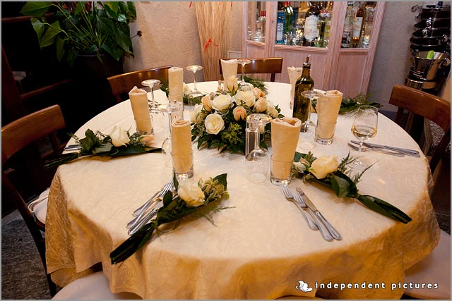 Christmas wedding centerpieces in Italy