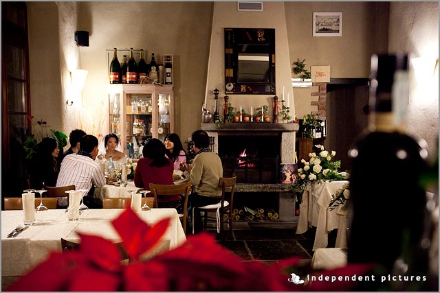 Wedding Christmas dinner in Italy