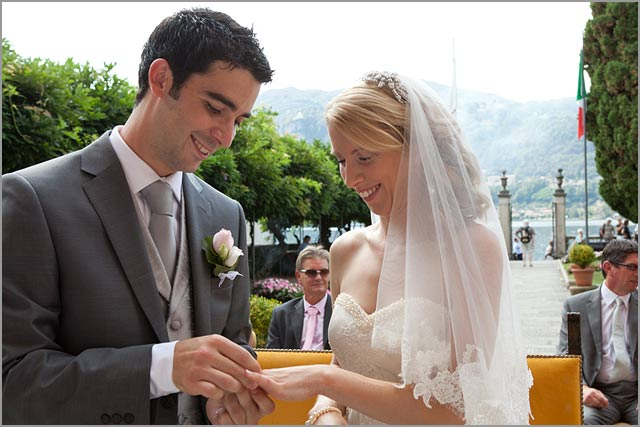 civil ceremony in Villa Bossi lake Orta