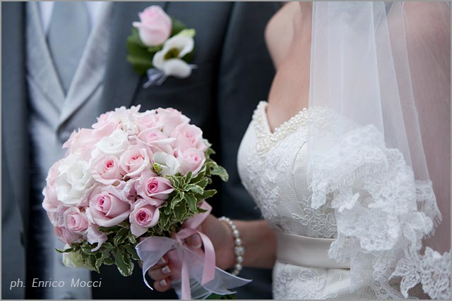 pink pastel bridal bouquet