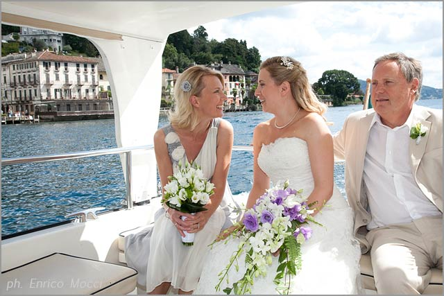 wedding florist on lake Orta