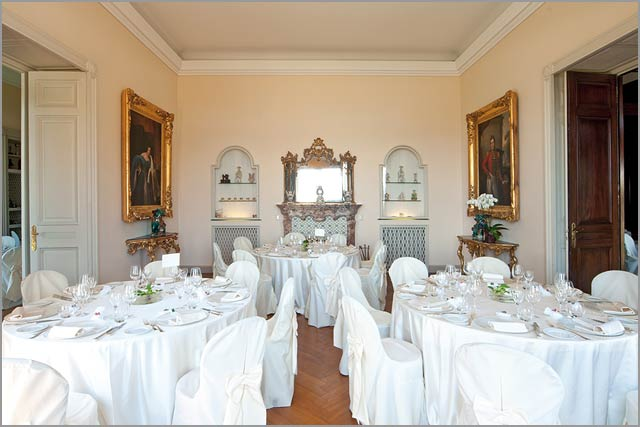 wedding reception to Villa Dal Pozzo