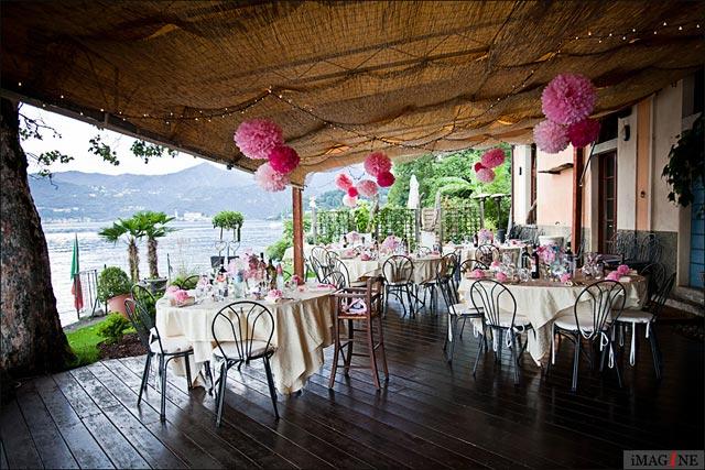lake Orta outdoor wedding reception venue