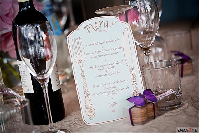 lake Orta wedding reception menus