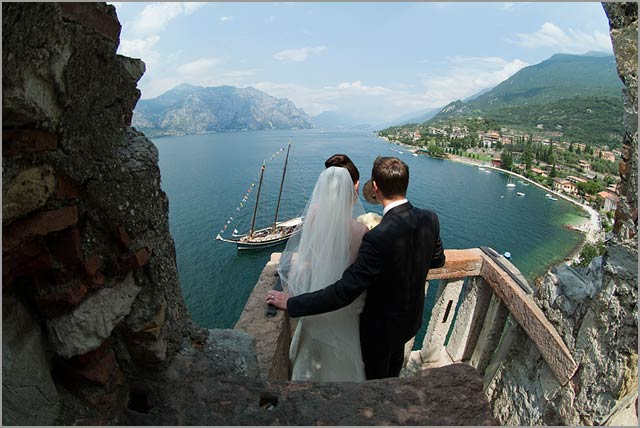 castle weddings in Malcesine lake Garda
