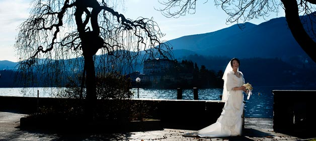 A Winter Wedding on Lake Orta