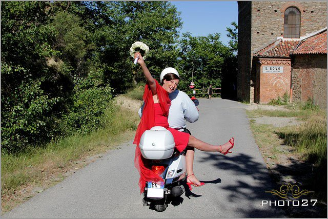 Vespa hire for Lake Garda weddings