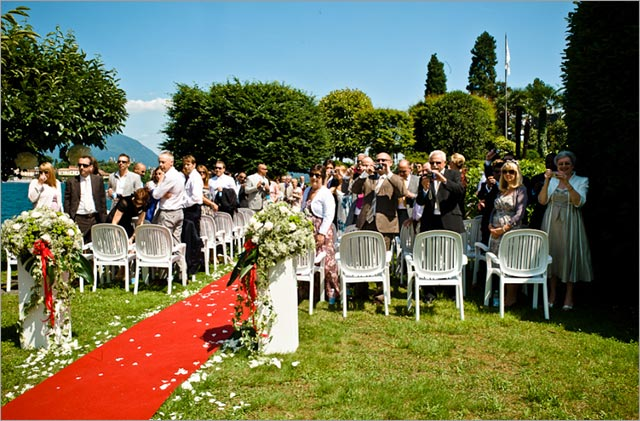 Stresa lake Maggiore, wedding ceremony on the lake shores