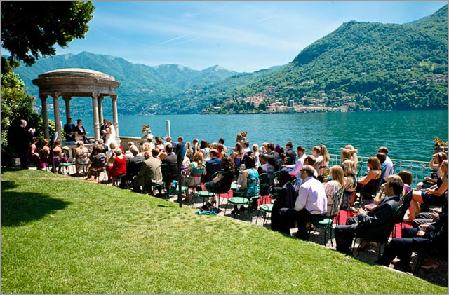 lake Como, ceremony on the lake shores