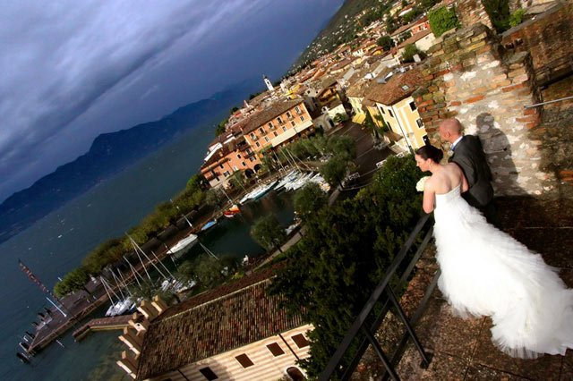 Torri del Benaco castle weddings on lake Garda