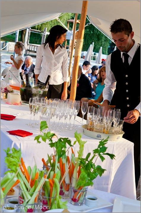 wedding reception at Orta Beach Club restaurant