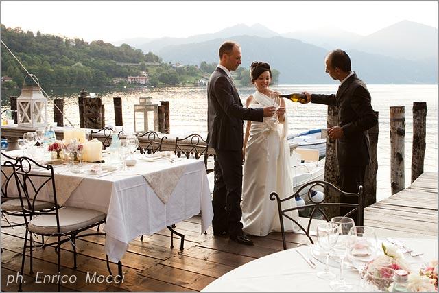 wedding reception at Orta Beach Club