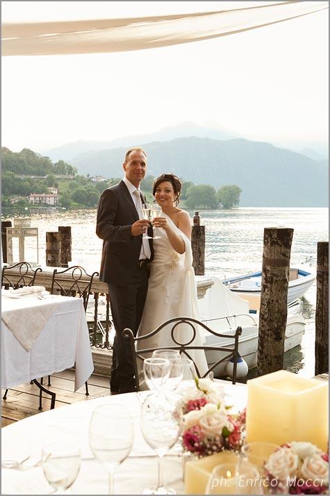 Orta Beach Club Wedding in Italy