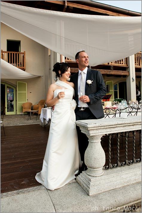 outdoor wedding reception at Orta Beach Club restaurant