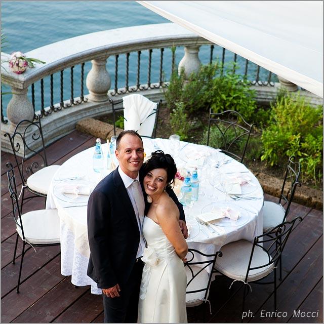 wedding at Orta Beach Club restaurant