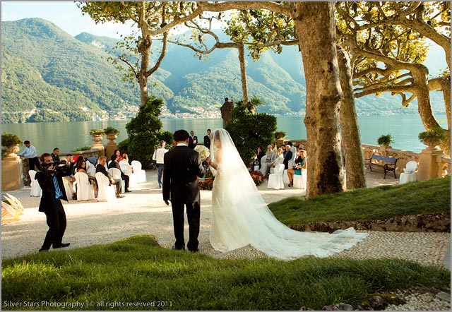 wedding in the terrace of the Star Wars movie at Villa Balbianello
