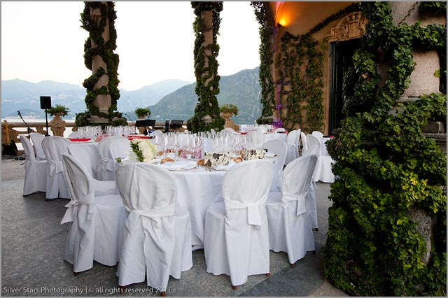dinner at Villa del Balbianello