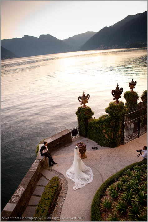 wedding photographer at Villa Balbianello