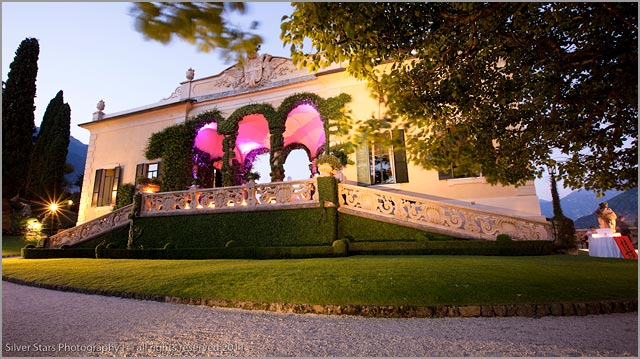 open air wedding at Villa Balbianello