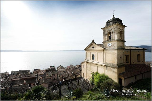 catholic wedding at Trevignano church lake Bracciano