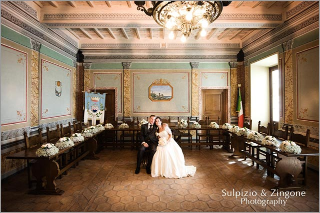civil wedding at Trevignano Town Hall lake Bracciano