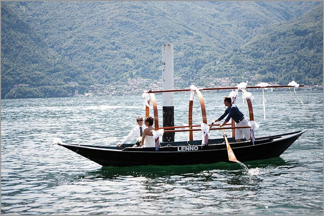 Wedding by LUCIA a typical Lake Como row boat