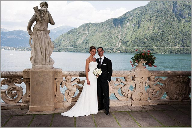 wedding photo service in Villa Balbianello