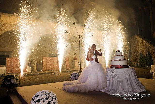wedding party at the Odescalchi Castle in Rome