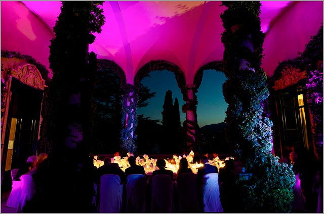 wedding party at Villa Balbianello