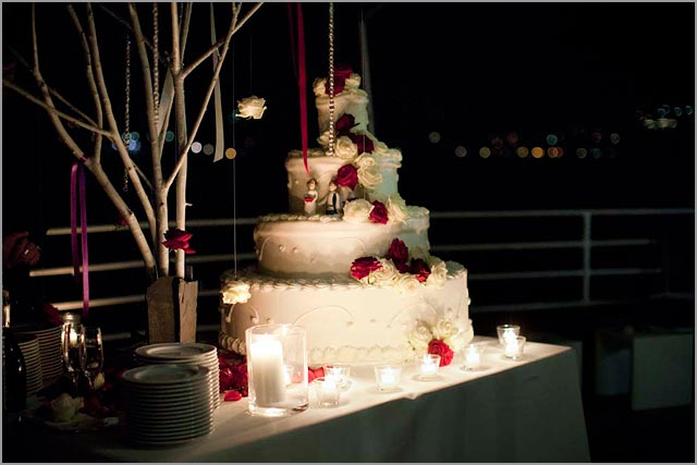 american wedding cake at Villa del Balbianello