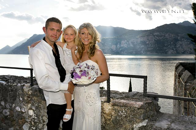 civil wedding ceremony at Malcesine Castle