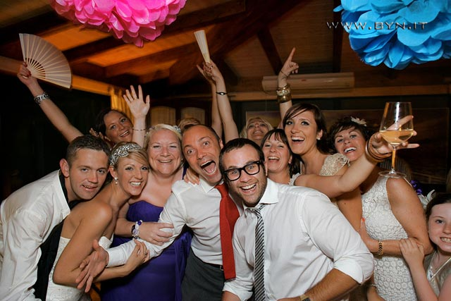 wedding party in Malcesine Lake Garda
