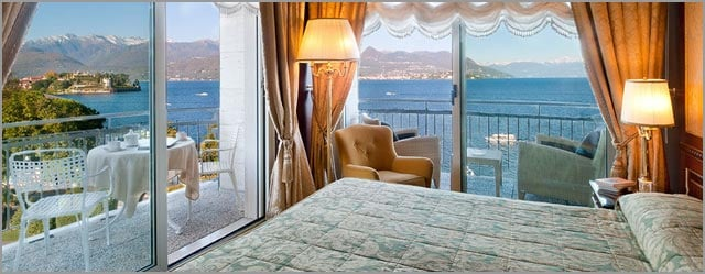 lakeview room at Grand Hotel Bristol in Stresa