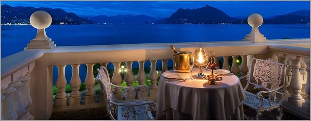 wedding dinner at Grand Hotel Bristol in Stresa