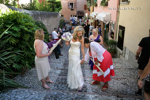 Ape Calessino wedding in Malcesine