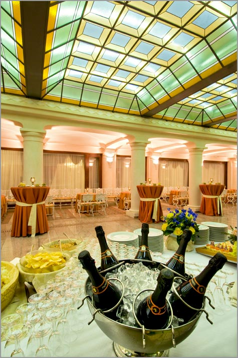 wedding reception at Grand Hotel Bristol in Stresa