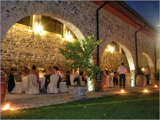 Hochzeit Dinner-in-Italien