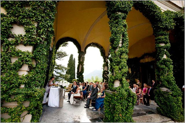 wedding ceremony at Villa Balbianello lake Como